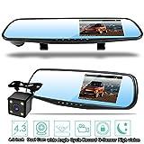 Homelink IPS LCD 1080P Video sensore di parcheggio retrovisore di retrovisione sistemi auto Backup Inversione Rilevatore di veicoli Monitor con fotocamera impermeabile d