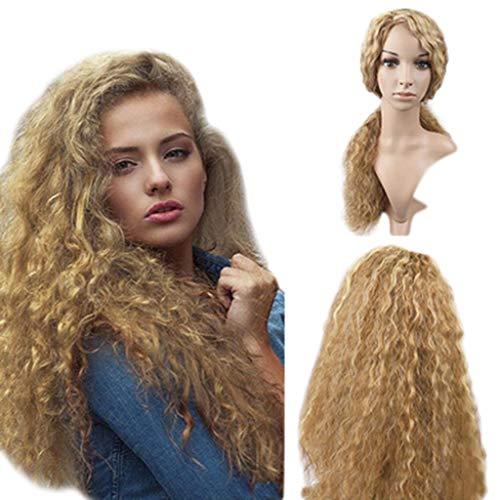 Oyedens Cornrow Perücke Blondn Langes HeißEs Wasser KräUseln Kleine PartyPerücke Des Lockigen Haares Karneval Blonde Perücke ()