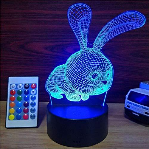 3D Lampe 7 Farben Ändern Acryl Nachtlicht mit Smart Touch & Fernbedienung 3D Nachtlicht als Geschenke für Frauen, Kinder, Mädchen, Jungen