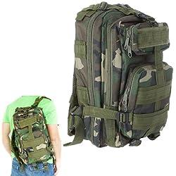 SODIAL(R) Mochila Deportivo Exterior Militar 30L para Campamento Excursionismo - Camuflaje de Selva