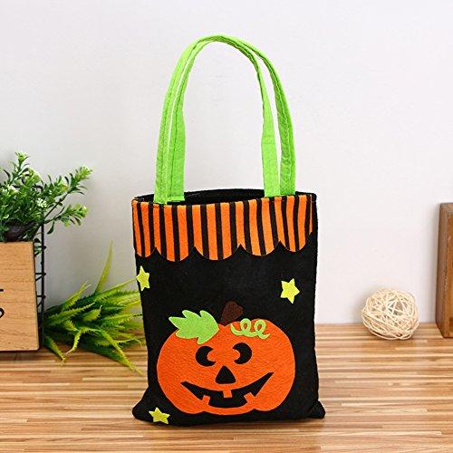 Zantec Niedliche Halloween Taschen Süßes sonst gibt's Saures Süßigkeits Taschen Hexe Kürbis Beutel für Kindergeschenke Dekorative Stützen (Niedliche Geist Kostüme Für Frauen)