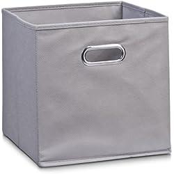 Zeller 14130 Aufbewahrungsbox, Vlies, L 28 x B 28 x H 28 cm, grau