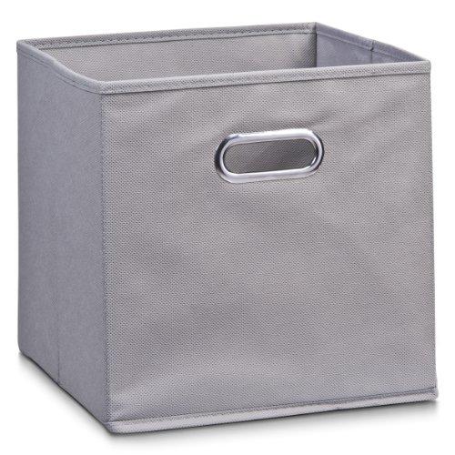 Zeller 14130 Aufbewahrungsbox, Vlies, ca. 28 x 28 x 28 cm, grau
