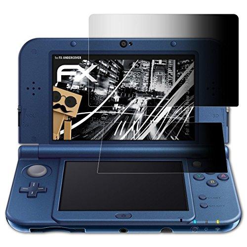 Nintendo New 3DS XL (2015) Blickschutzfolie - 1er Set atFoliX FX-Undercover 4-Wege Sichtschutz Blickschutzfilter Displayschutzfolie