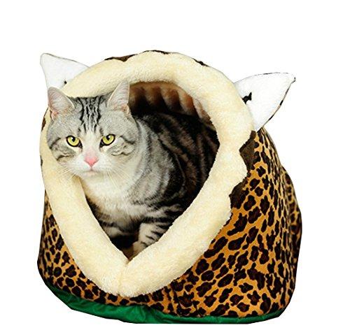Dell'animale domestico modellazione leone Cat materasso Kennel caldo molle di tenda Kitty Small Medium Puppy (Kitty Bowl)