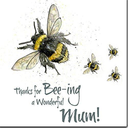 """Muttertags-Karte mit der Aufschrift """"Thanks for Bee-ing a Wonderful Mum!"""""""