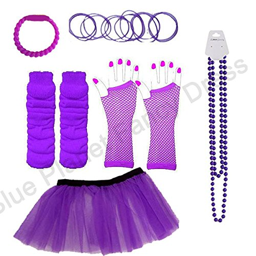 80s Skirt and Accessories Set - UK 8-14,16-24 - Many Colours