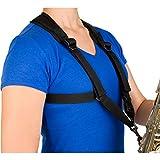 ProTec A306SM Universal Saxophon-Gurt mit Metallschnalle, klein, Schwarz