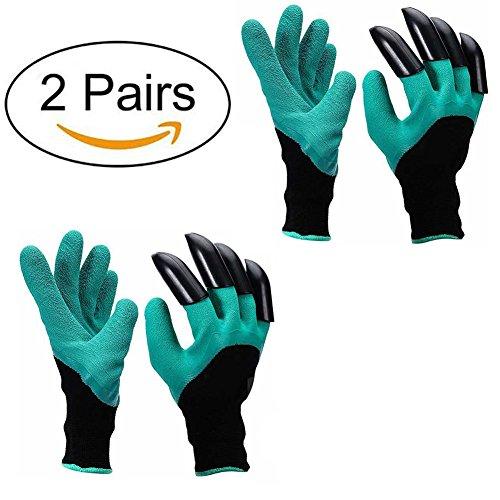gants jardinage, à l'épreuve des épines gants de travail pour le creusage et les roses Cactus Planting Nursery, gants de jardin avec des griffes (Les griffes sur Main droite)