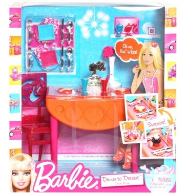 Barbie Barbie Dinner To Dessrt Dining Room