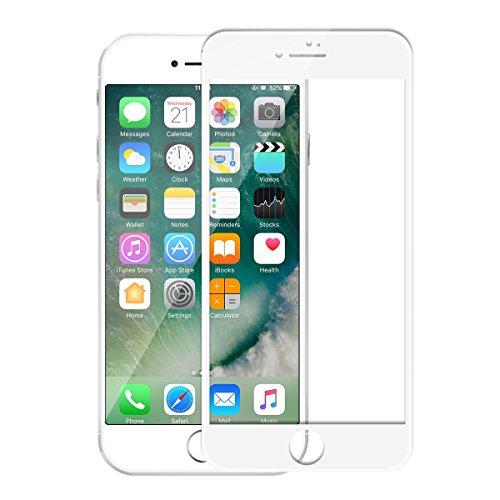 3D Volle Abdeckung iPhone 7 Plus Schutzfolie, Vaxiuja 3D Volle Abdeckung 0.3mm Stärke 9H Härte HD Hochwertiger Stahl Privatsphäre Kratzfestes Glasschirm Schutz iPhone 7 Plus - Weiß