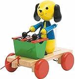 Unbekannt ZIEHTIER ZIEHFIGUR NACHZIEHTIER Hund mit XYLOPHON Holz Nachziehfigur mit