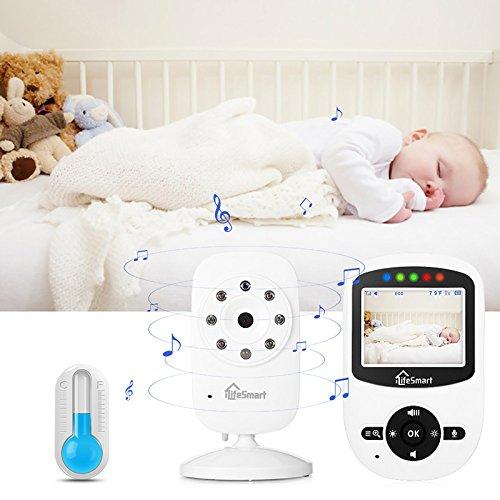 iLifeSmart SM24 Video Baby Monitor 2.4 Inch Babyphone mit Nachtsicht Temperaturüberwachung und Timer-Einstellung Funktionen Drahtlos Digital Kamera - 8
