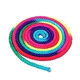 Dewin Corda per ginnastica - Arcobaleno Colore Ginnastica ritmica Corda solida, corda per allenamento Arti della competizione