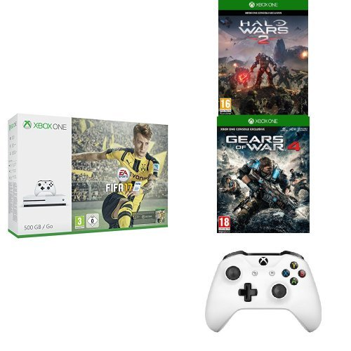 Pack Console Xbox One S 500 Go + Fifa 17 + Halo...