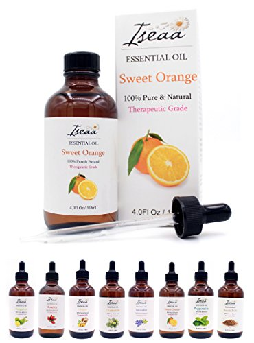 100% reines Ätherisches Süße Orange Öl Therapeutische Grad Duftöl für Aromatherapie, Massage, Wellness, Aroma Diffuser, Duftlampe 118 ml - Massage Öl Sweet