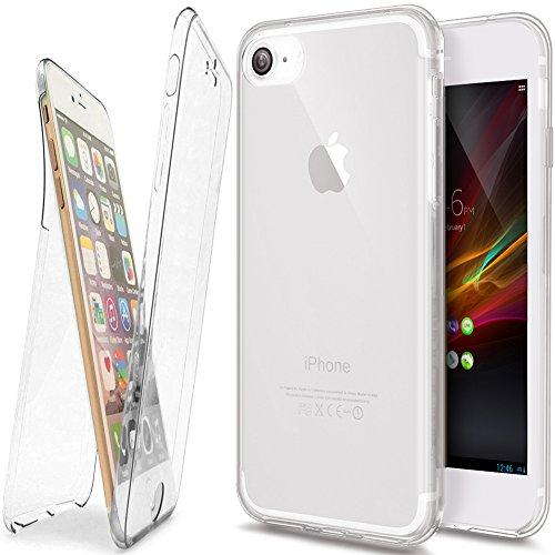 Coque iPhone 7 Plus, Étui iPhone 7 Plus , iPhone 7 Plus Case, ikasus® Coque iPhone 7 Plus Étui de protection complet avant + arrière 360 degrés Étui en silicone souple [Shock-Absorption] Housse Téléph Transparent