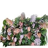 LVZAIXI Künstliche Grünpflanze Buntes Blattblumengras Gartenzaun Hecken Obstgarten Bühnentreppe Dekoration (Color : A, Size : 100x100cm)