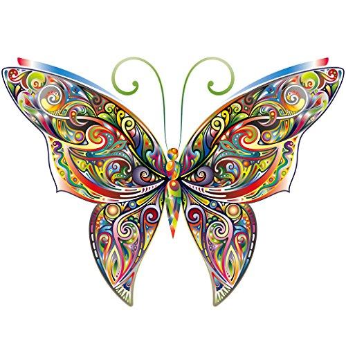 Jiamins 1 Stück Patch Sticker - Schmetterling DIY Druck Stickerei Applikation Für Decoreting Und Patching Jacket,T-Shirt,Hut,Kleid (12x9cm)