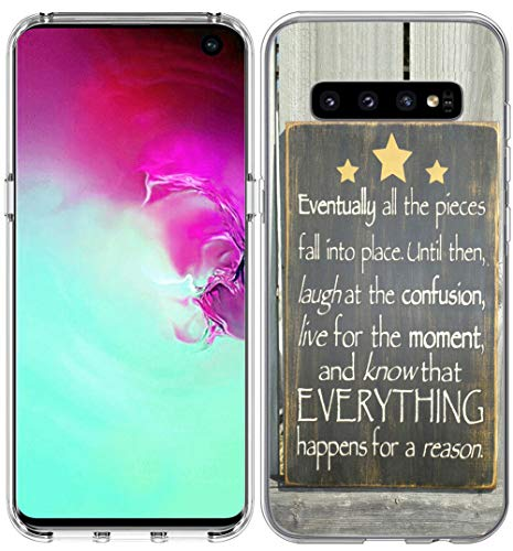 Schutzhülle für S10 / IWONE Designer Rubber Durable Protective Skin Transparent Cover Shockproof Compatible for Samsung Galaxy S10 Bibelverse for Girls Christian, Writings Motivational