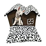Haustier Haus Katze Bett mit Indoor abnehmbare Kissen Mat Pad Hundebett Doppel Dach Haus für kleine Hunde & Katzen Schlaf