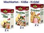 Werner´s Mischkarton (10029) Klöße/ Knödel im Kochbeutel (2x Vogtländische/Thüringische Klöße; 2x Kartoffelklöße; 2x Serviettenknödel)