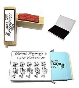 Clarinette étudiant Coffret cadeau (flashcards personnalisables, doigté Tampon en caoutchouc & Pad.)