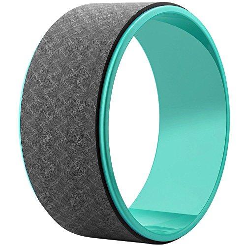 Esoes Yoga Wheel roller progettato per Dharma ruota yoga pose, per stretching e per migliorare la postura Backbends Balance yoga e pilates esercizi, green+black, Taglia unica