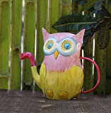 #8: Store Indya Decorative Metal Garden Watering Can for Home Garden Décor with Owl Design