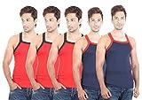Bodysense Red & Blue Men's Gym Vest ( Pa...