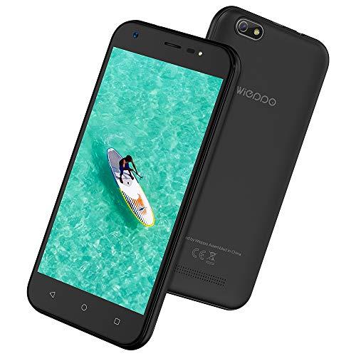 "Smartphone ohne vertrag 3G, Wieppo S5 Dual SIM Handys mit 5 Zoll HD 1280 * 720 Display, Kamera 8MP+5MP, 1GB RAM 8GB ROM, Android 7.0, 2400mAh Akku (3G 5"" 1G+8G Schwarz)"