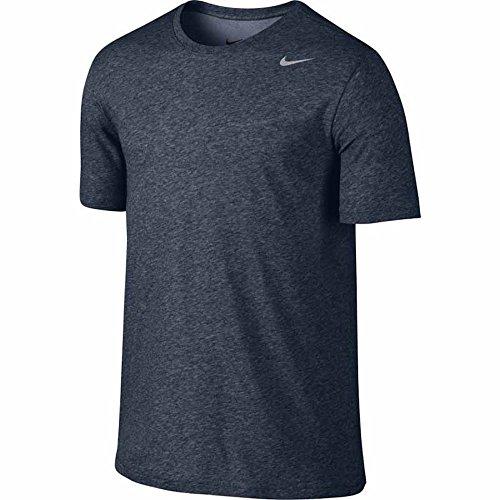 Nike M Nk Dry Tee Dfc 2.0 - Maglietta a Maniche Corte Uomo Obsidianheather/Argento opaco