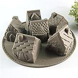 6 cavità Case del silicone di figura torta di pane muffa del cioccolato della caramella della gelatina muffa di cottura