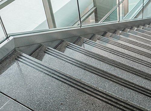 Kara.Grip 15 Non-Slip Steps approximately Stripes Black 60 CM x 3 CM