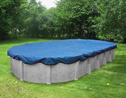 Pool Mate 541015 Ökono-Mesh Winter Ovale Abdeckplane 12 x 24-ft. Pool 1. Blue -