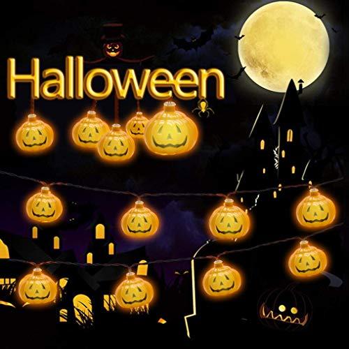 Halloween Kürbis Lichter HUOU 3M 20 LED Lichterkette -