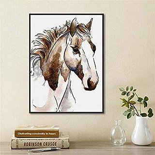 Abstrait Brun Cheval Animal Toile Art Photo Chambre Décoration Affiche Et Peinture Décoration cadre 40x50cm