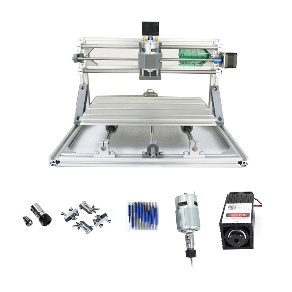CNC 3018 Engraving Machine with 5500mw Laser 450nw Wavelength for engraving Pcb Milling wood router working area 300 x…