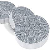 Adsamm® | 3 x selbstklebendes Filzband zum Zuschneiden | 19x1000 mm | Grau | rechteckig | 3.5 mm starker selbstklebender Filzzuschnitt in Top-Qualität von Adsamm®