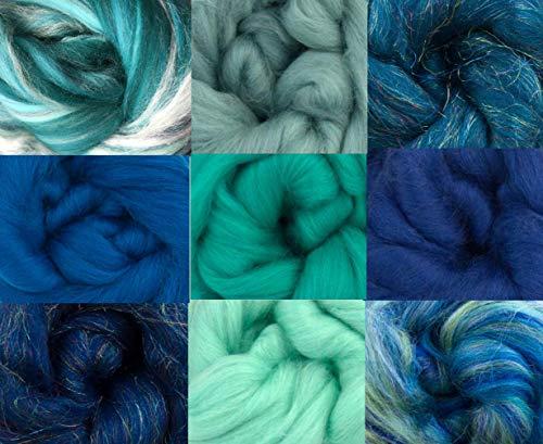 Merino Wool Tops - Ocean Pack of 9