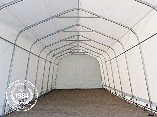 Weidezelt 3,3 x 7,2 m Weideunterstand Offenstall Weidehütte Stallzelt Pferde Unterstand Stall PVC NEU in grün -