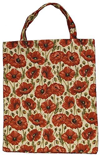 Bowatex Sac cabas sac pochette en tissu Shopper Bag poche de bistro Tapisserie royaltex Signare Coquelicot Multi FA