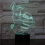 Nette Häschen Tischlampe Schlafzimmer Cartoon Dekoration RGB Touch Sensor Kinder Kinder Gadget Geschenk Ostern Kaninchen Nachtlicht LED Hase
