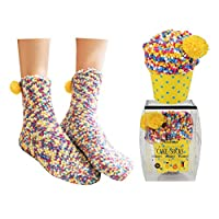 WOWOSS Thick Socks for Christmas Gift Warm Slipper Socks for Women Ladies Girls Super Cozy Bed Socks for Size 4-7 in UK