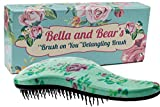 Bella and Bear Detangler Bürste von Die Beste Entwirrende Haarbürsten für Nasses Oder Trockenes Haar Ideal für Erwachsene und Kinder Keine verknoteten Haare Mehr