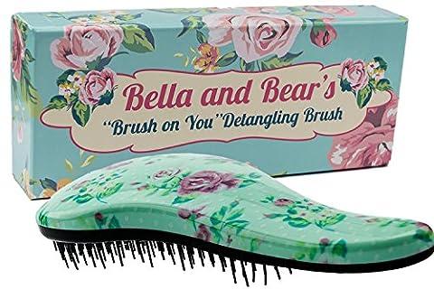 Detangler Bürste von Bella and Bear Die Beste Entwirrende Haarbürsten für Nasses Oder Trockenes Haar Ideal für Erwachsene und Kinder Keine verknoteten Haare (Gute Freundin Geschenke)