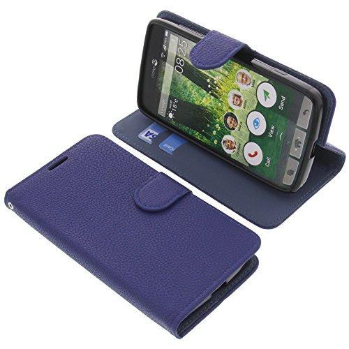 foto-kontor Tasche für Doro Liberto 825 Book Style blau Schutz Hülle Buch