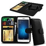 N4U Online® Black Clip On Series PU Leather Wallet Book