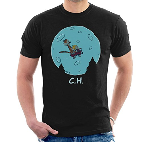 Flying Wagon CH ET Calvin and Hobbes Men's T-Shirt