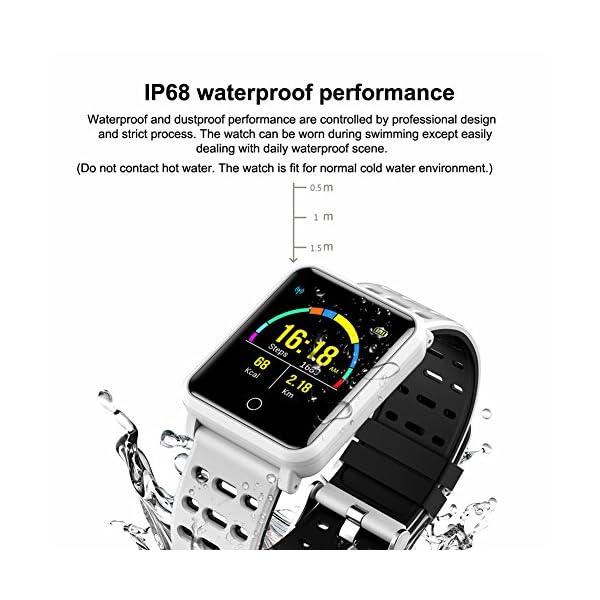CanMixs Pulsera de Actividad Smartwatch, CM11 Impermeable IP68 Pulsera Inteligente con Podómetro, Monitor de Ritmo… 3